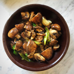 10 Minute Mushrooms with Vinegar