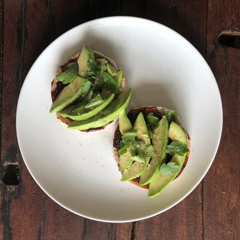 Strawberry Gochujang Avocado Toast