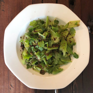 Simplest Warm Celery Salad