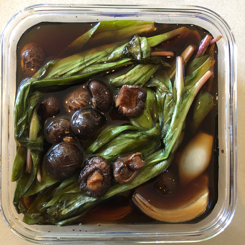 Soy Sauce Pickled Ramps