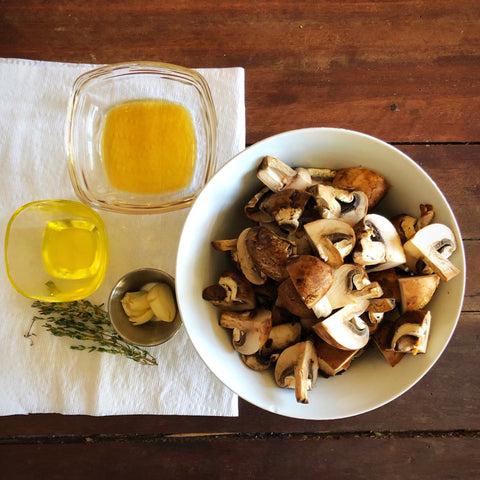 korean recipe mushrooms with vinegar infrared-roasted perilla oil kudzu vinegar