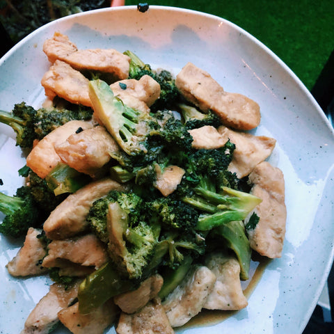 korean recipe chicken and broccoli ganso korean seasoned soy sauce infrared-roasted sesame oil