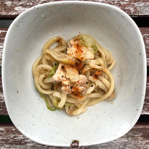 korean recipe yaki udon noodles infrared-roasted sesame seeds infrared-roasted sesame oil ganjang korean soy sauce brown rice vinegar