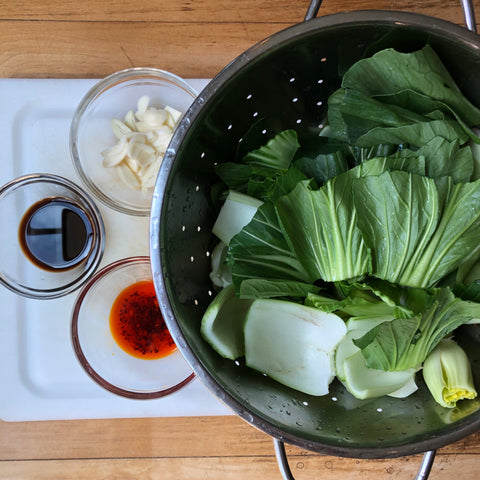 korean recipe bok choy ganjang korean soy sauce