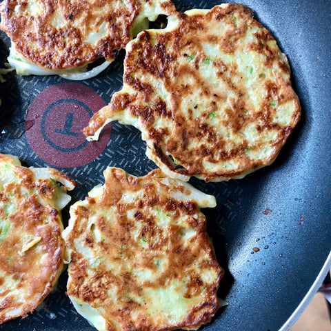 korean recipe zucchini pancakes infrared-roasted sesame seeds korean roasted bamboo salt sea salt