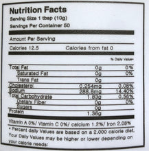 Doenjang Nutrition Facts