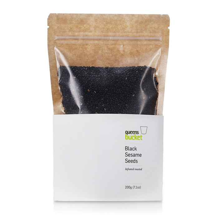 Queens Bucket Infrared-Roasted Black Sesame Seeds - Gotham Grove