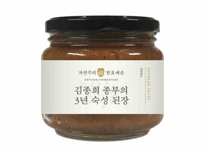doenjang fermented soybean paste white background 4x3
