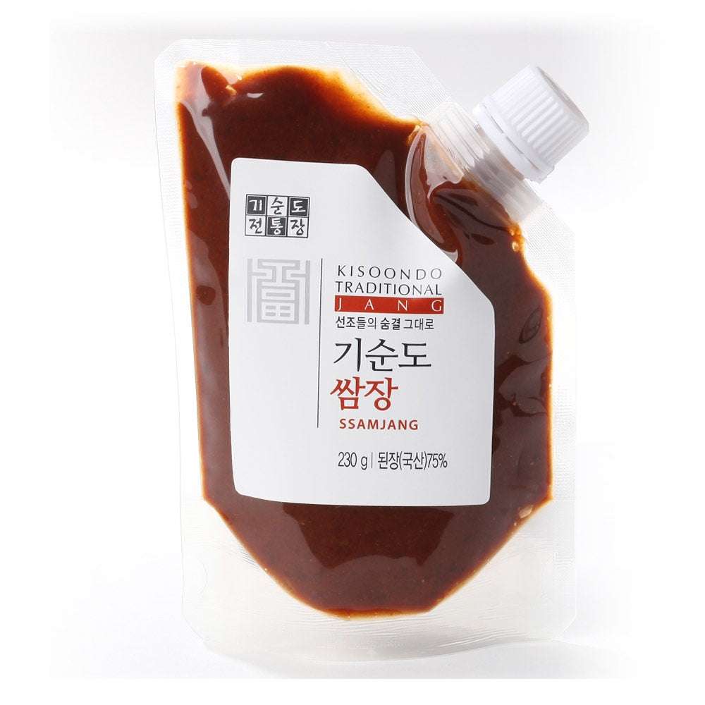 ssamjang sauce plain white background 1x1
