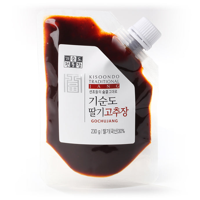 Strawberry Gochujang white background 1x1