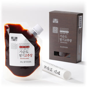 Strawberry Gochujang sauce, package and box