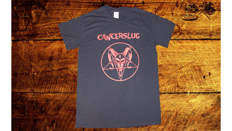 Cancerslug - Red Goat Pentagram Mens T Shirt