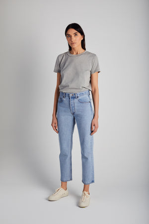 Baby Blue Beaded Tate Crop - Still Here New York