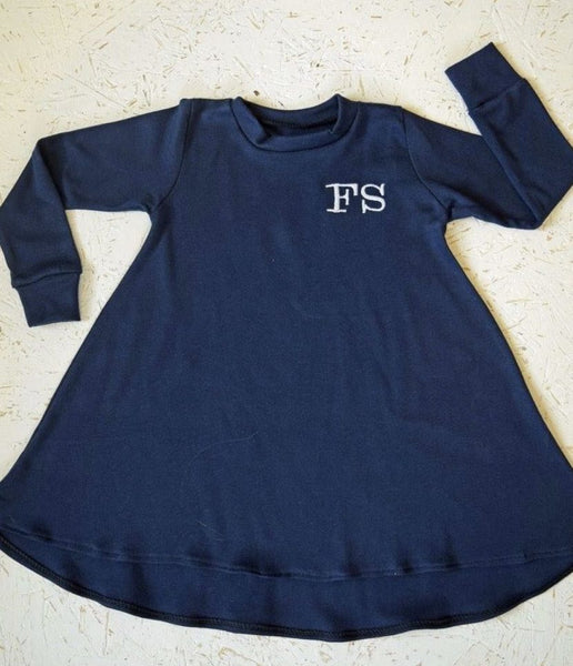 Swing Dress - 100% Cotton Long-Sleeved