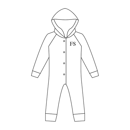 All-in-One Hooded Suit 100% Cotton