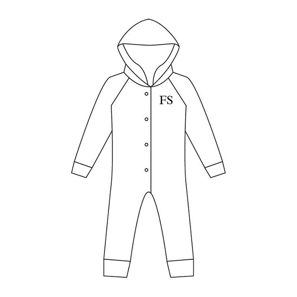Fleece Back All-in-One Hooded Suit