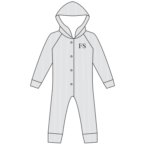 All-in-One Suit Hooded Cotton Ribbed