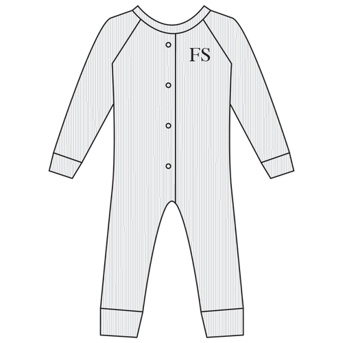 All-in-One Suit Cotton Ribbed