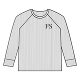 The Matching Ribbed Range - Child / Junior Long Sleeve Top