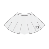 100% Cotton Ribbed Circle Skirt