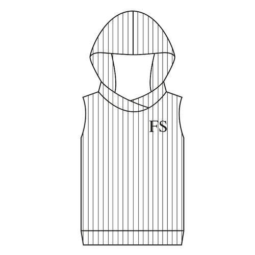 100% Cotton Ribbed Hoody Sleeveless