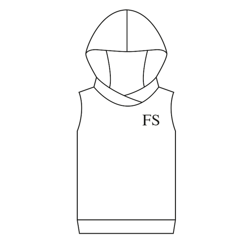 100% Cotton Hoody Sleeveless