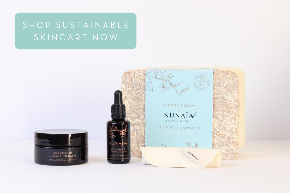 Ground & Glow Sustainable Skincare | Nunaia Beauty Mycelium Packaging