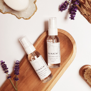 Nunaia Beauty | Lavender & Tea Tree Hand Sanitiser | Disinfect Hands
