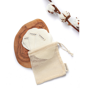 Nunaia Facial Cleansing Ovals with mesh wash bag image
