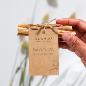 Nunaia Palo Santo Incense 3 stick bundle with label