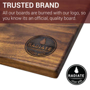 Radiate Campfire Black Walnut Cutting Board - Made in USA-