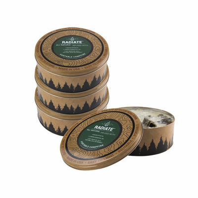 Radiate Campfire 4 Pack Eucalyptus (Save 7%) - Made in USA