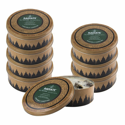 Radiate Campfire 8 Pack Eucalyptus (Save 10%) - Made in USA