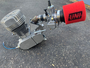 7.76hp 77.5cc 50mm Sleeved CASE REED ENGINE AND CARB