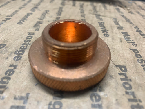 Copper Gas cap for stainless steel tanks