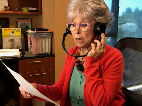 "Rita Moreno recording the role of Elizabeth Cady Stanton in Spanish as part of the ""Talking Statues"" initiative that will bring the statue's subjects to life."