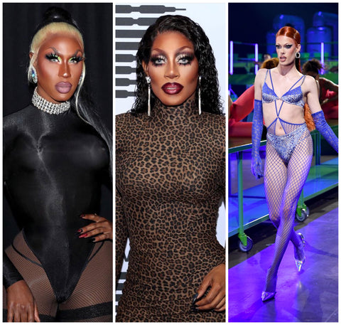 RuPaul's Drag Race All-Stars Season 5 Winner Shea Couleé, RuPaul's Drag Race All Season 12 Winner Jaida Essence Hall, and RuPaul's Drag Race Contestant Gigi Goode for Savage x Fenty: Show Vol. 2