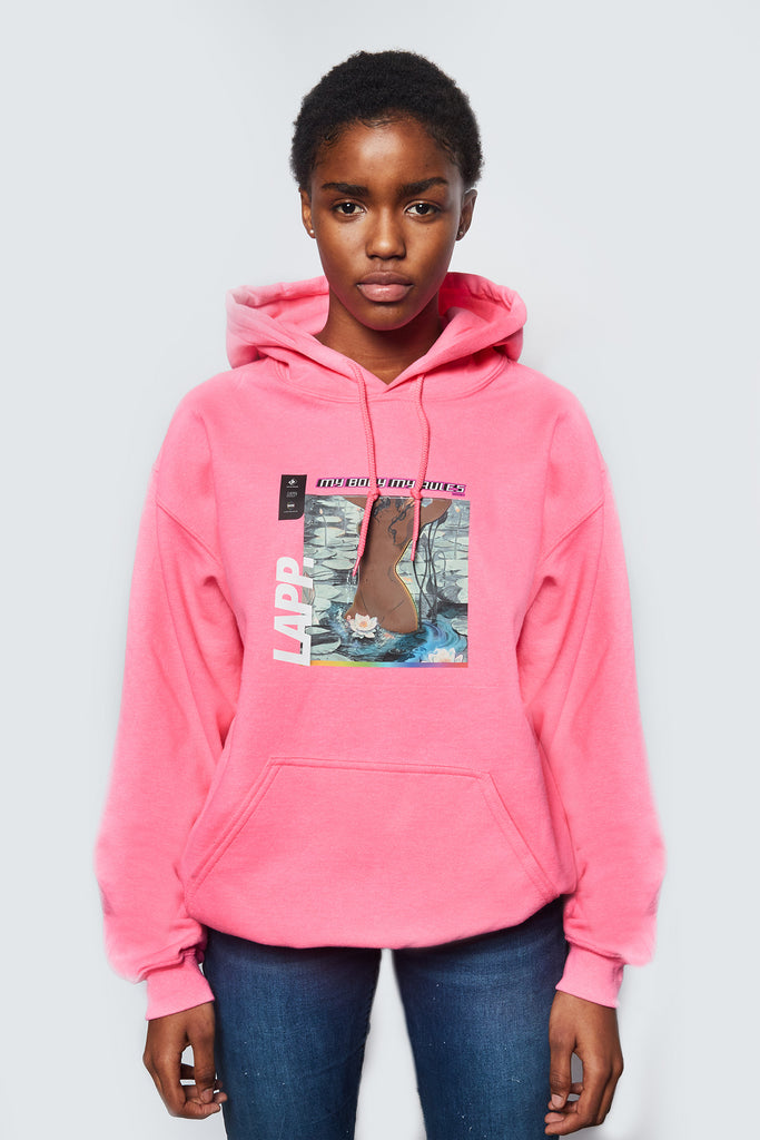 MY BODY, MY RULES HOODIE [PINK]