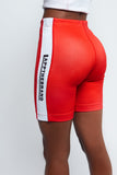 LAPP TRACK LEGGING SHORT [RED]