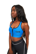 VENUS ZIP FRONT SPORTS BRA - BLUE