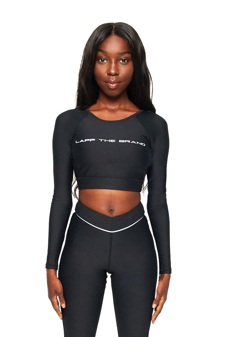 Long sleeve padded sports bra [3m/ black]