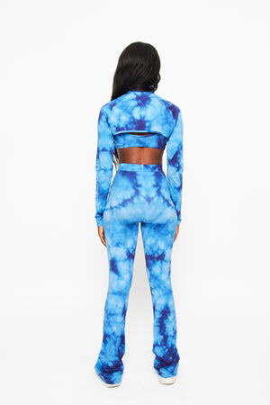Limited edition Tie Dye Cropped Zip Up Top