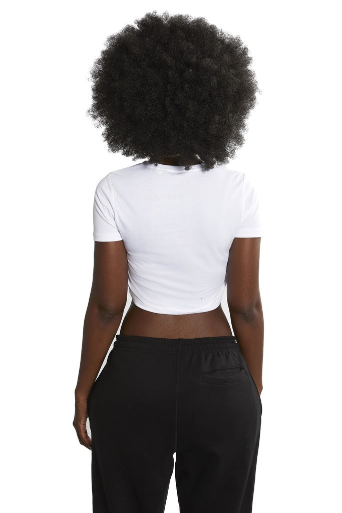 (Not So) Basic cropped t-shirt [White]