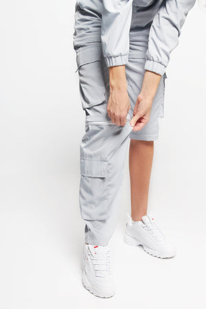 MULTI-WAY CARGO PANTS [STEEL GREY]