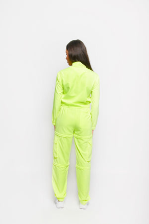 MULTI-WAY CARGO PANTS [NEON YELLOW]