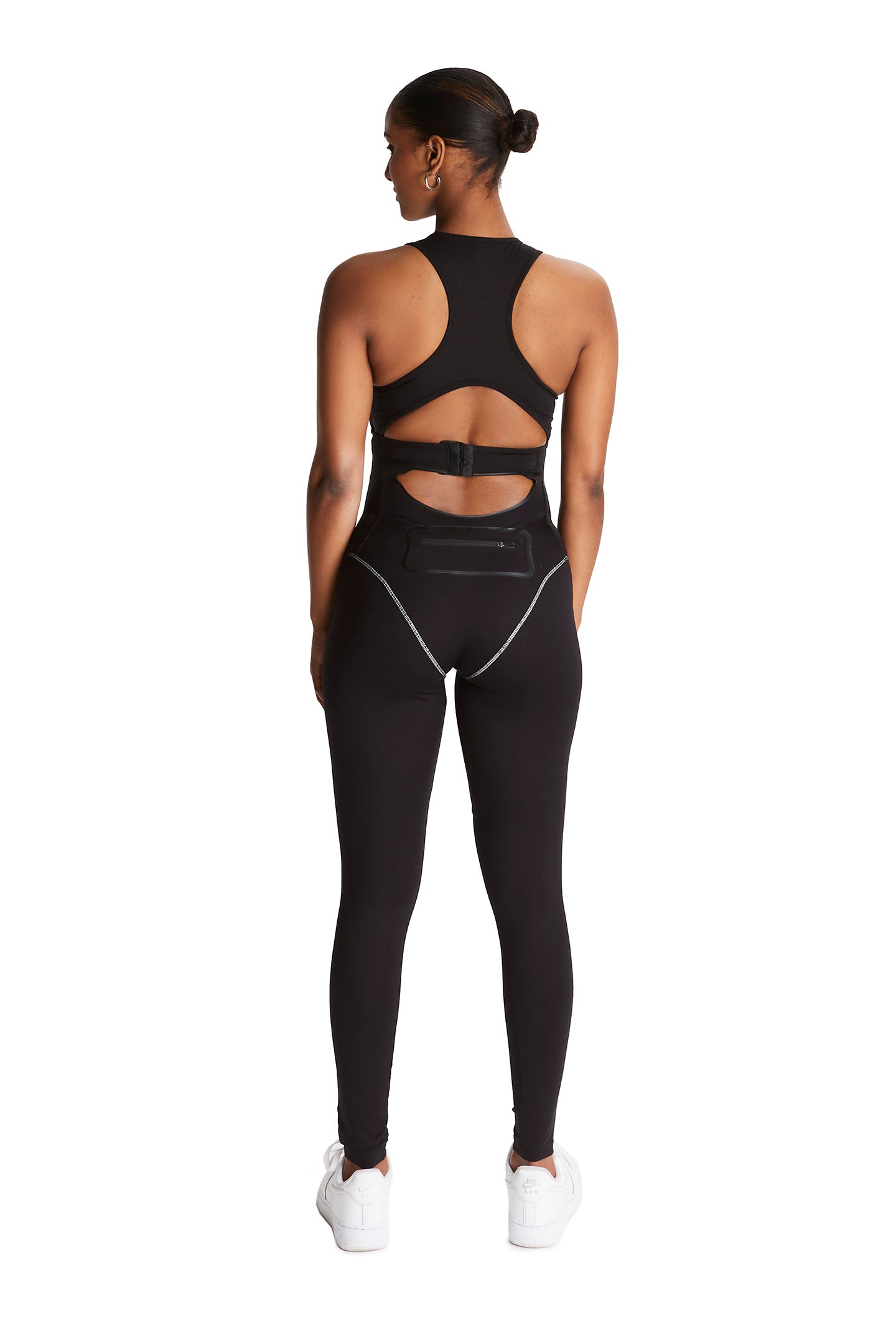Body contour jumpsuit [Black/ 3M]