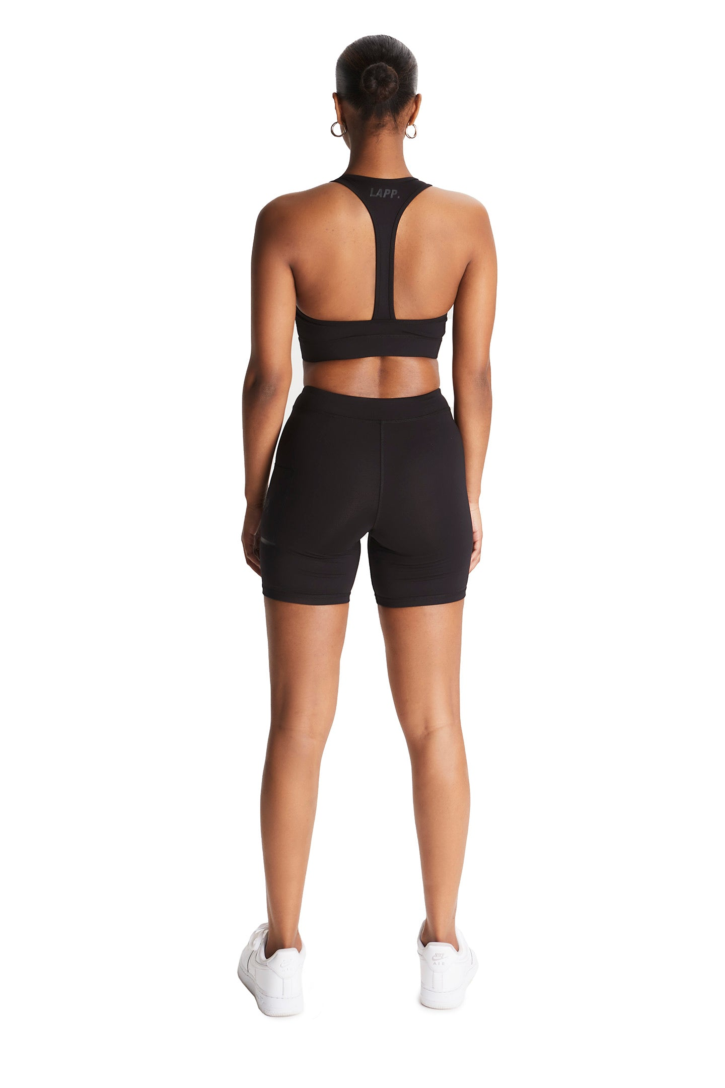 Zip front sports bra [Black/ 3M]