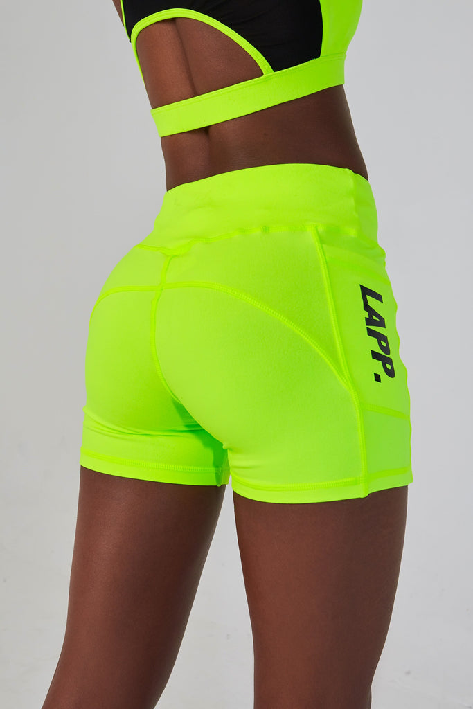 SERENA BOOTY SHORTS [NEON YELLOW]