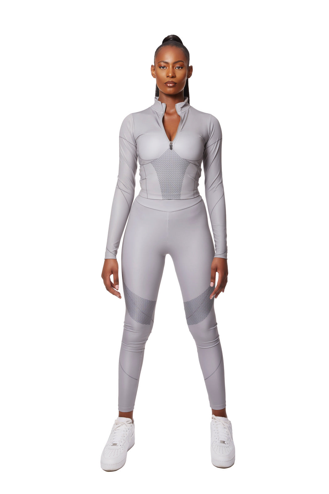 Contour graphic leggings co-ord [Grey]