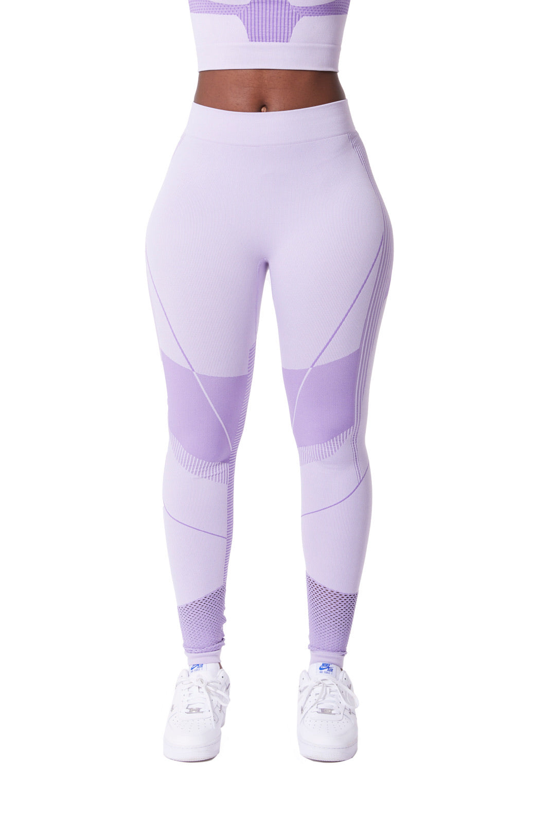 Seamless contour leggings [Lavender]